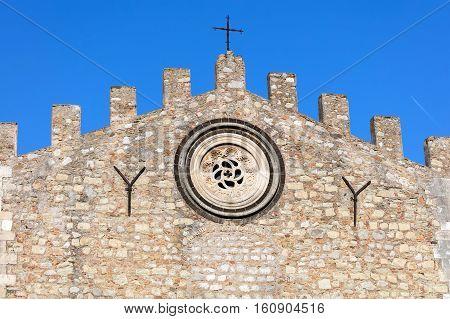 Taormina Cathedral In Taormina, Sicily, Italy