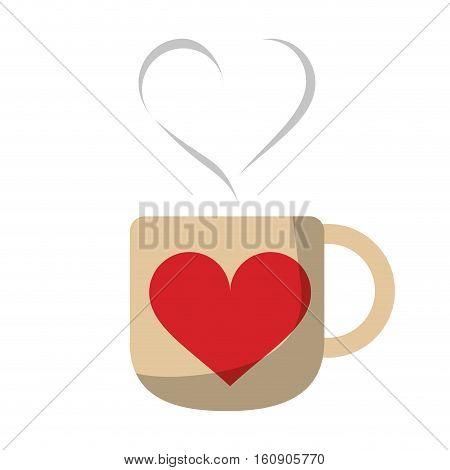 cup coffee love heart hot vector illustration eps 10