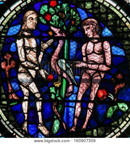 Stained Glass - Adam And Eve