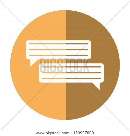 bubbles speech dialog speak text shadow vector illustration eps 10