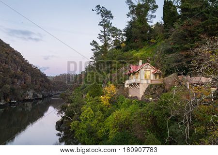 House with a scenic view over the Esk river towards Cataract Gorge in Launceston Tasmania