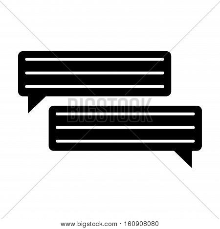 silhouette bubbles speech dialog speak text vector illustration eps 10