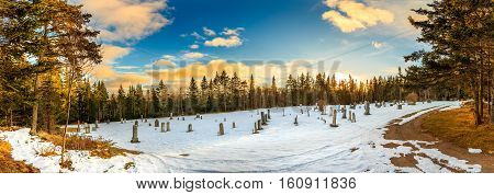 Rock port cemetery, Canada, New Brunswick, Rockport landscape, Maringouin Peninsula, Cumberland Basin