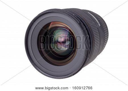 Lens Of Modern Digital Camera, View Of Front Lens