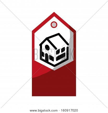 label or tag house line icon image vector illustration design