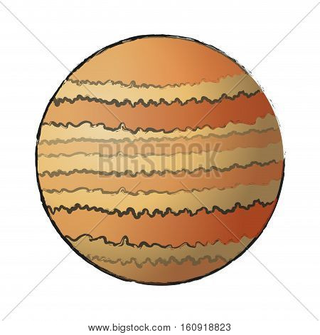 Planet icon. Space science orbiting and exploration theme. Isolated design. Vector illustration