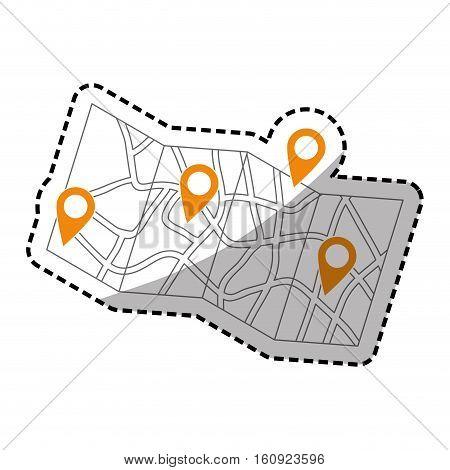 Map location marker icon vector illustration graphic design