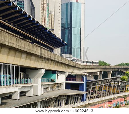 Cityscape With Railway In Kuala Lumpur