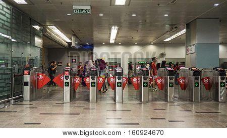 Entrance Of Metro Station In Kuala Lumpur
