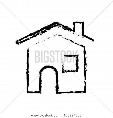 House real estate symbol icon vector illustration graphic design