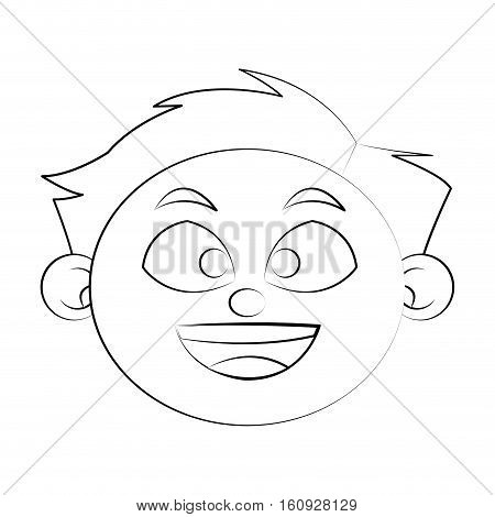 Boy cartoon icon. Kid childhood little people and person theme. Isolated design. Vector illustration