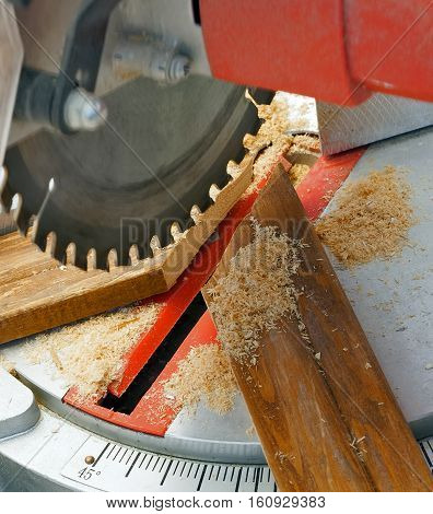 Electric Saw Cuts Plank Blade Concepts