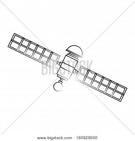 Satellite icon. Broadcast internet technology and communication theme. Isolated design. Vector illustration