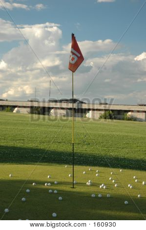 Golf. Target Point
