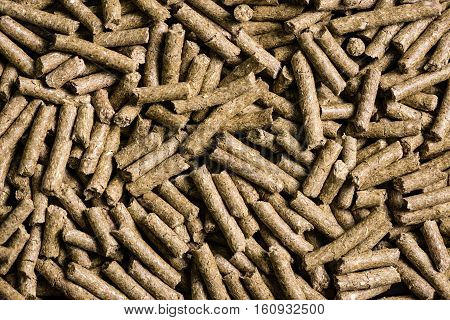 Granulated Animal Food Background Texture