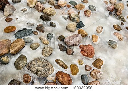 Small Pebble Rock Background Texture