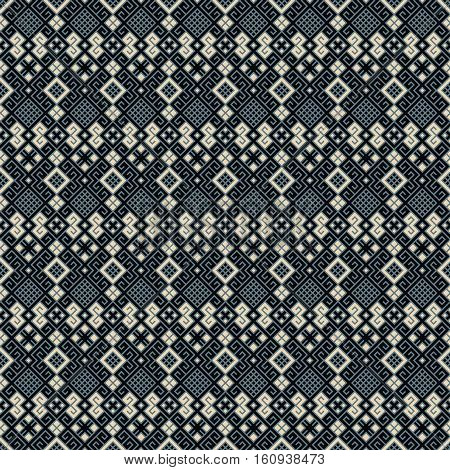 seamless vector blue geometric pretty pattern design