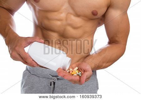 Doping Anabolic Pills Bodybuilder Bodybuilding Muscles Strong Muscular Man