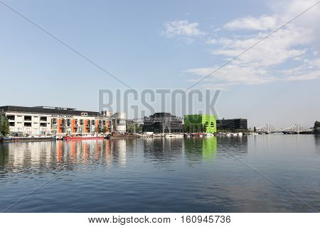 Lyon, France - August 17, 2016: View of Confluence in Lyon, France Confluence is a former industrial wasteland and has been renovated since the end of 1990s