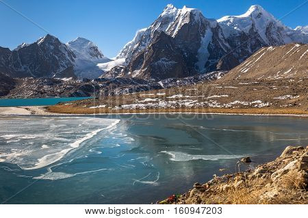 Gurudongmar Lake in North Sikkim - Second high altitude lake in the world located at 17800 ft.