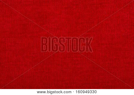 Natural linen fabric for embroidery. Red color