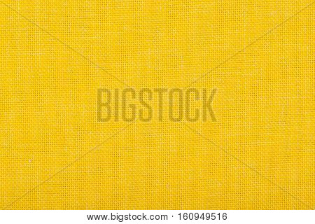 Natural linen fabric for embroidery. Yellow color