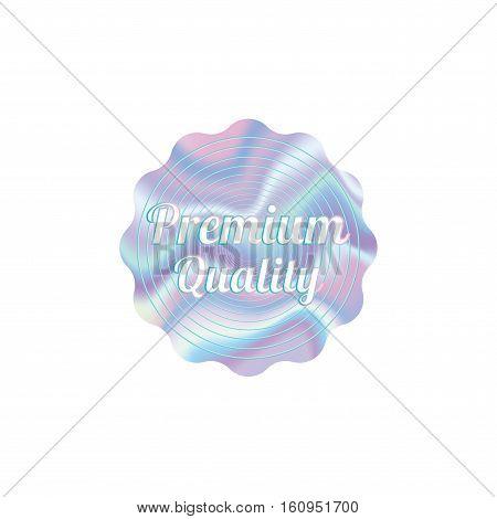 Holographic design illustration round wave shape sticker premium quality emblem