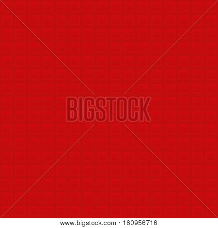 Waffle pattern. Red Neutral Seamless Pattern for Modern Design in Flat Style. Tileable Geometric Vector Background.