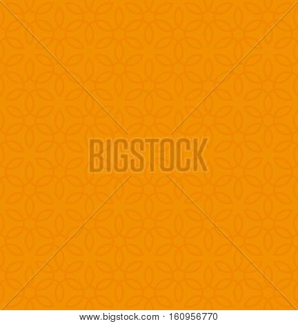 Floral ornament. Orange Neutral Seamless Pattern for Modern Design in Flat Style. Tileable Geometric Vector Background.