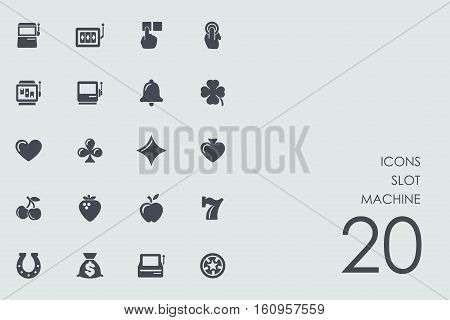 slot machine vector set of modern simple icons