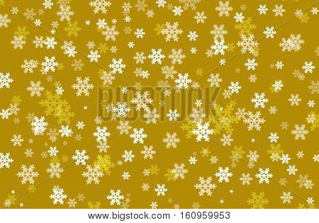 Snowflake on a mustard color background .