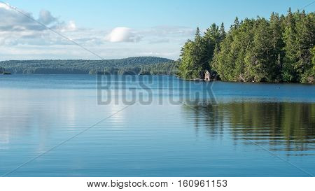Cabin on Lake in Algonquin Provincial Park