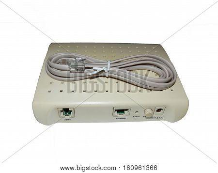 the modem and cable to connect to the network