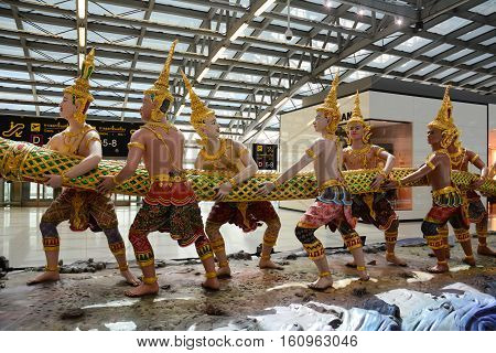 God Statue At The Suvarnabhumi Airport
