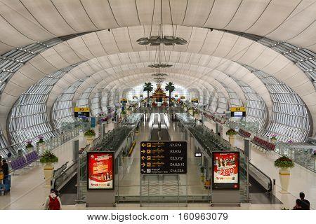 Departure Hall At Suvarnabhumi Airport