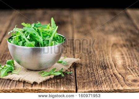 Portion Of Fresh Arugula