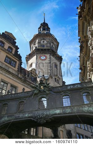 Majestic view on Saxony Dresden Castle (Residenzschloss) in Dresden State of Saxony Germany