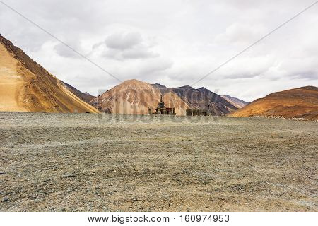 Natural Landscape In Pangong Lake
