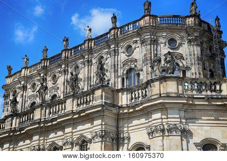 Katholische Hofkirche Schlossplatz in Dresden State of Saxony Germany