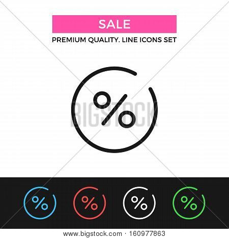 Vector sale icon. Discount, clearance concepts. Premium quality graphic design. Modern signs, outline symbols collection, simple thin line icons set for websites, web design, mobile app, infographics
