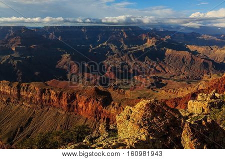 Astonishing View Of Grand Canyon From South Rim, Arizona, United States