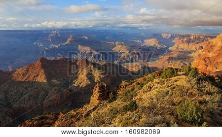 Great View Of Grand Canyon From South Rim, Arizona, United States