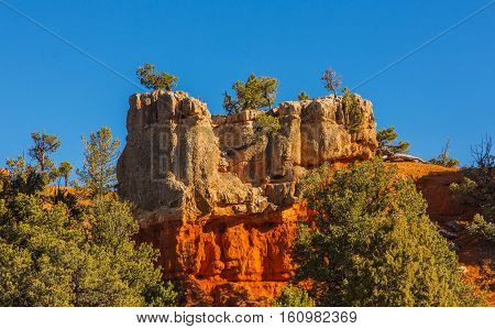 Appealing Rock Formation. Hoodoos In Bryce Canyon National Park. Utah, United States