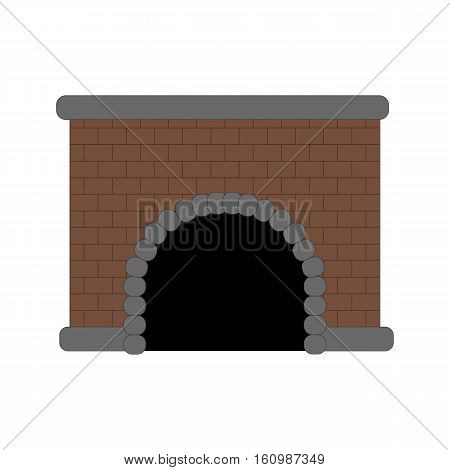 Fire place illustration on the white background. Vector illustration