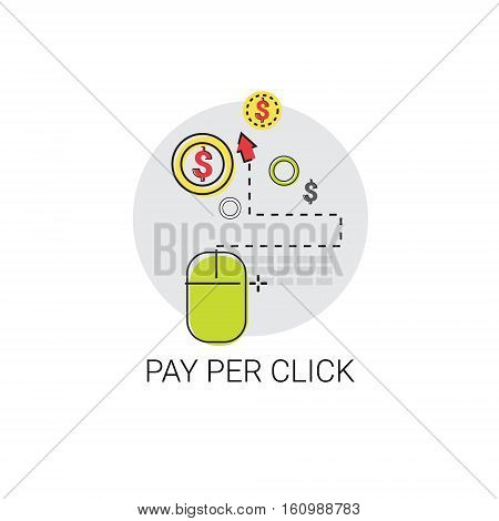 Pay Per Clock Online Payment Web Icon Vector Illustration