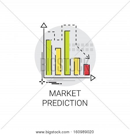 Marketing Analytics Business Strategy Prediction Icon Vector Illustration