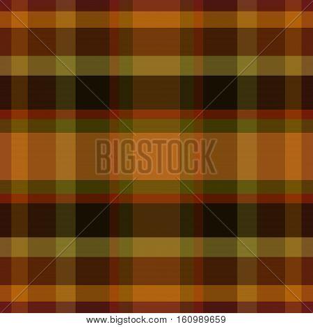 abstract vector tartan seamless - orange green and brown