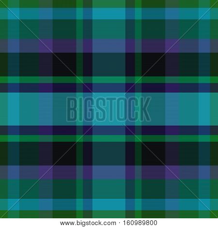 abstract vector tartan seamless - blue teal and violet