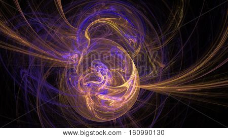 Earth planet magnetic field colorful abstract background