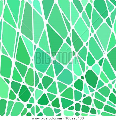 abstract vector stained-glass mosaic background - green and teal